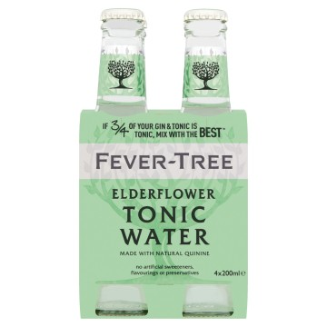 Fever Tree Elderflower Tonic 4-pack